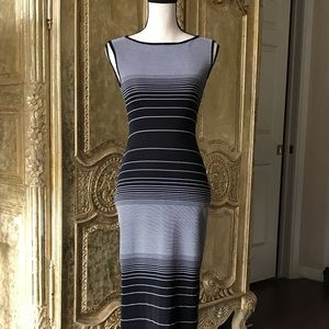 BCBG Dresses - Vintage BCBG black and white bodycon dress